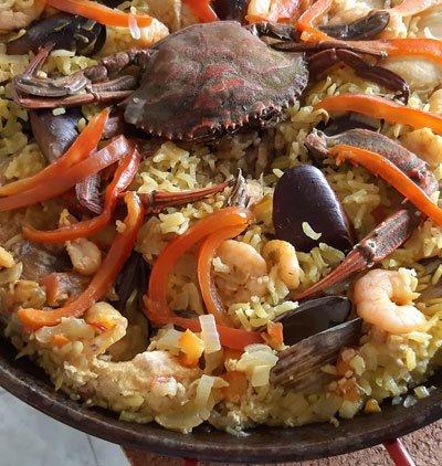 Paella plato principal
