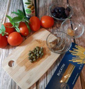 Ingredientes pasta puttanesca