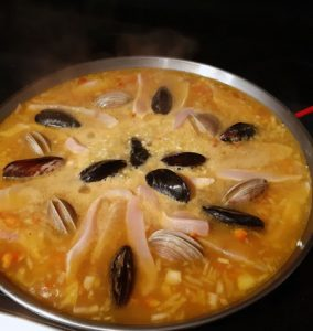 receta de paella mariscos